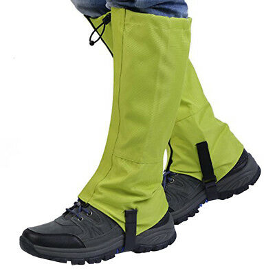 Waterproof Walking Gaiters Boot Cover Hiking Climbing Legging Trekking Protector