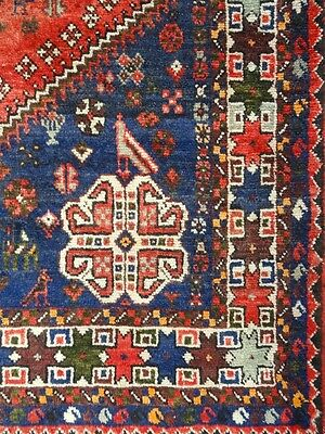 """Cr.1920 Afshar Antique Persian Exquisite Hand Made Rug 5' x 7' 7"""""""