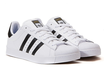 the latest 50f6b 53709 ADIDAS SUPERSTAR VULC Adv Shoes in White/Core Black/White - Sz 5-7.5 NWT  D68718