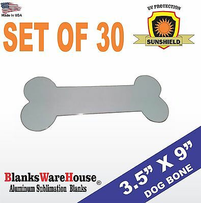 Sublimation DOG BONE, Sign blank, Printing, heat press ready, SET OF 30 PIECES