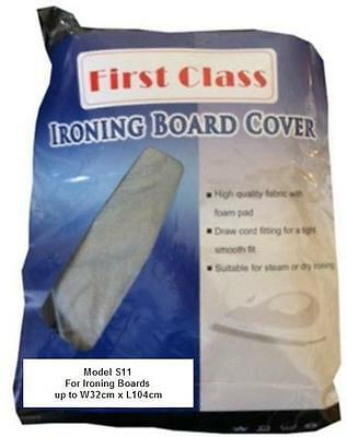 Table Top Ironing Board Cover New, Metallic, Scorch Guard, Fits 32cm x 104cm