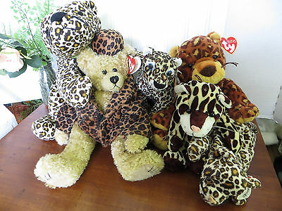 Spotted Cat Plush Lot  TY Isabella Puttin' On The Ritz, TY Freckles, TY Pokey