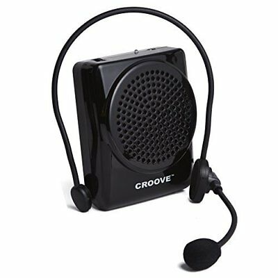 Croove Rechargeable Voice Amplifier, with Waist/Neck Band & Belt Clip, 20 ..