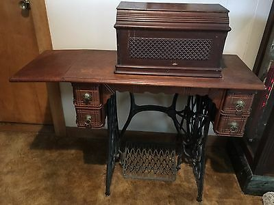 Antique Singer Sewing Machine 1889 Complete