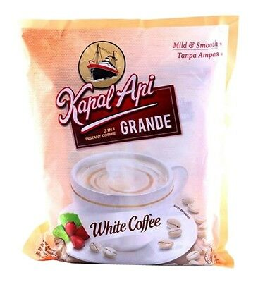 Kapal Api Grande White Coffee 3in1 Instant 20 sachet x 20gr Powder High Quality