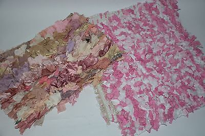 Lot 2 Floor rugs Photo props shag ripped material Baby photography