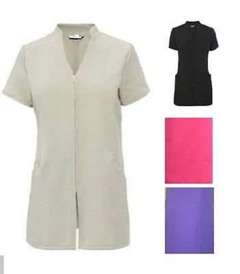 SPA Beauty & Hair Salon Hairdressing Beautician Nail Massage Therapist Tunic ZiP