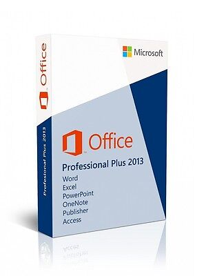 Office 2013 Professional Pro Plus 32/64 Bit Key Licenza Originale Multilanguage