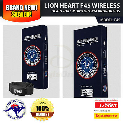 *NEW* Lion Heart F45 Wireless Heart Rate Monitor Gym Android iOS LionHeart