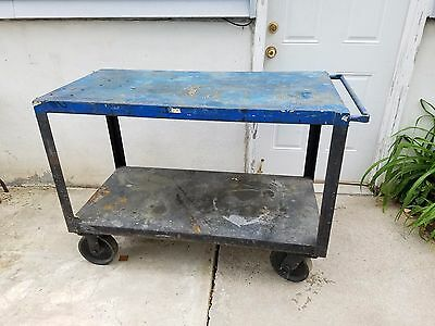 "Little Giant Extra-Heavy Duty 2 Shelf Portable Table Truck  48"" x 24"" x 36"""