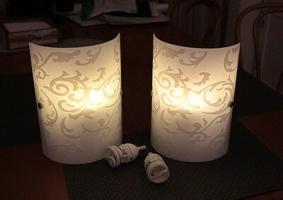 Pair of elegant white wall lights sconces - Melbourne - pick up only