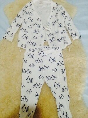 Seed Baby Obi Pajama Penguin 12-18 Months As New