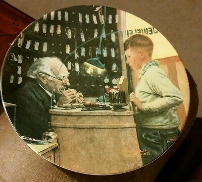 "1993 Norman Rockwell "" The Jeweler"" Plate #2933C"