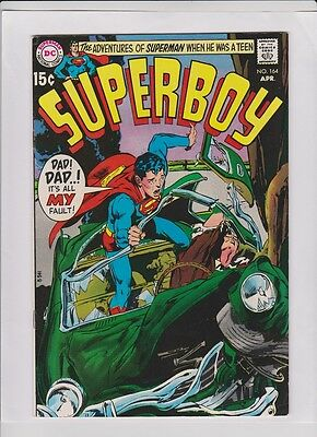 SUPERBOY #164 VF+, Neal Adams cover, Mike Esposito art 1970 DC, sweet comic