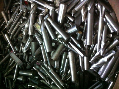 2 lbs of used solid carbide end mills