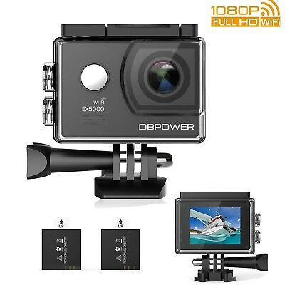 DBPOWER EX5000 Action Camera  14MP 1080P HD WiFi Waterproof Sports Cam 2 Inch...