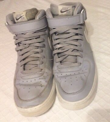 Nike Men's AIR FORCE 1 HIGH TOPS 2015 Size 12 Gray/White VGC