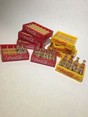 Miniature Coca Cola Trays And Bottles