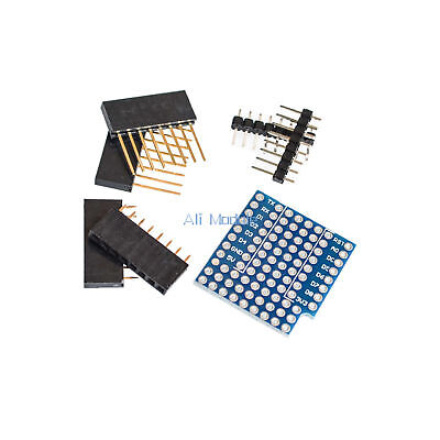 2PCS ProtoBoard Shield WeMos D1 Double Sided perf Board Arduino Compatible
