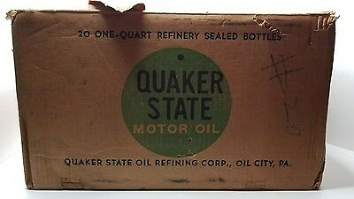 Vintage QUAKER STATE Motor Oil 20W 1qt Bottles EMPTY BOX Case FOR DISPLAY
