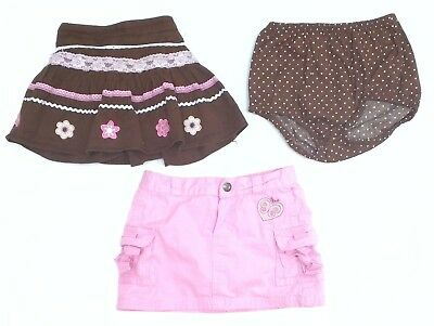 FLAPDOODLES Baby Girl's Skirt 24 months 2T Pink & Brown Set CUTE