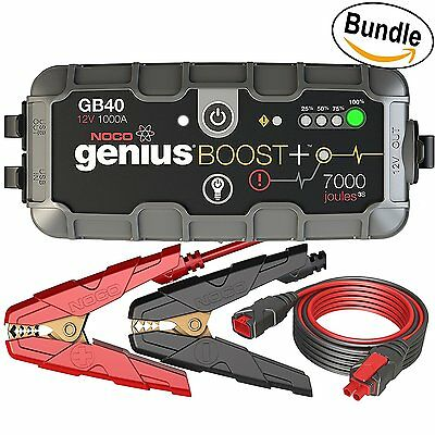 NOCO Genius Boost+ GB40 - 12V 1000 UltraSafe Lithium Jump Starter w/GC004 Cable