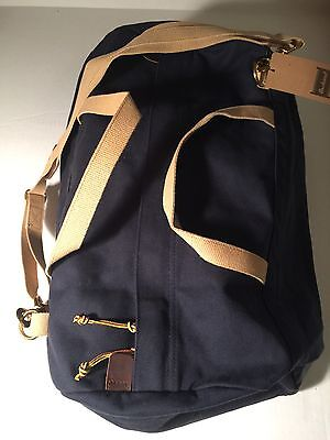 NWT Archival Brand Cotton Duck Canvas Duffle Navy