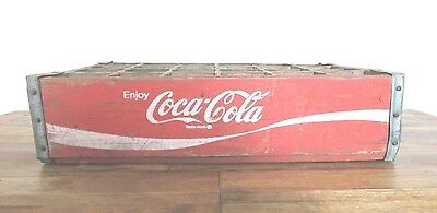 """Coca Cola Wood Crate Box 24 Bottle Red White 18""""x12""""x4"""" Vintage Soft Drink Soda"""