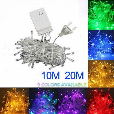 10M 100 LED Fairy String Christmas Tree Party Lights Lamp Xmas Decor Waterproof