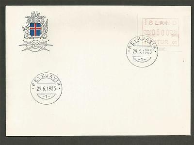 Iceland - 1983 Frama Postage Label  - F.d.cover.