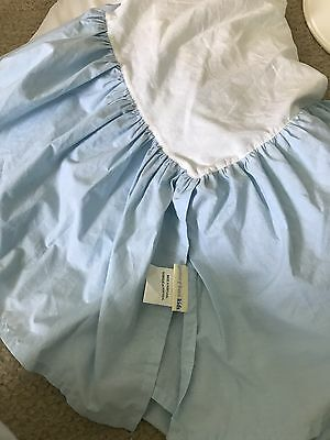 EUC BABY BLUE Pottery Barn Kids Crib Skirt !