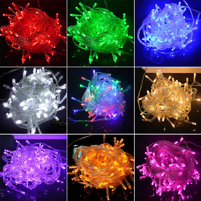10M 100 LED Christmas Fairy String Light Wedding Xmas Party Outdoor Decor Lamp