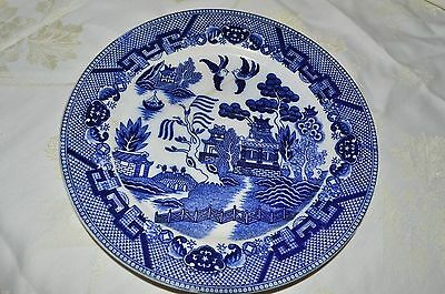 Antique willow pattern plate