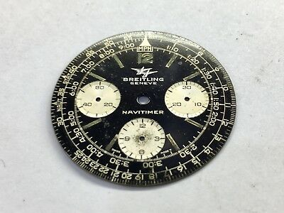 Genuine Vintage Breitling Navitimer Dial Crown And Pusher