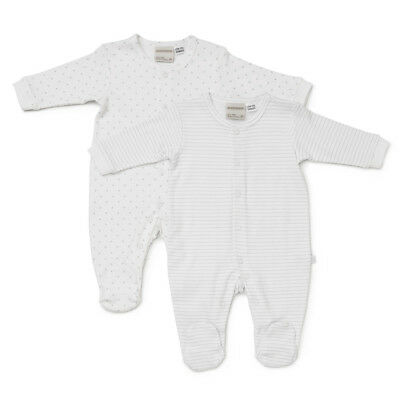 NEW Marquise Stars & Stripes Grey and White Growsuit Set 2pce