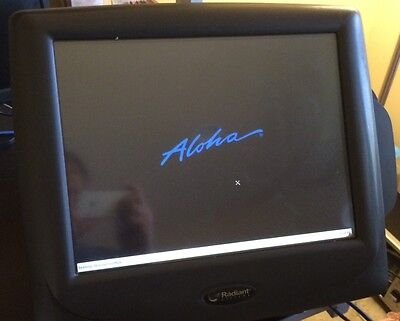 FOUR Radiant ALOHA Retail Restaurant POS Touch Terminals w/ printers and drawers