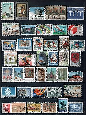 FINLAND - Mixed lot of 40 Stamps, most Good - Fine Used, LH