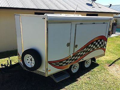 Enclosed 2 Kart Go Kart Trailer