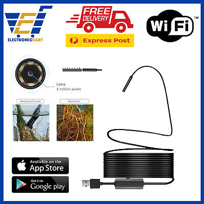 LED 1080p Wireless USB Endoscope Camera WiFi Hidden Security IOS Android System