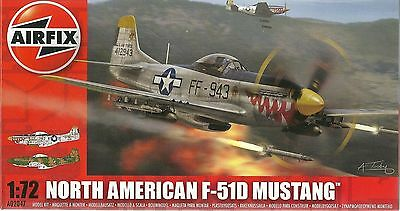 Airfix A02047 North American F-51D Mustang Plastic Model Kit 1/72