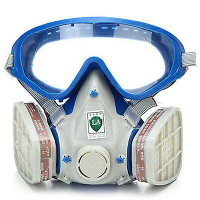 Full Face Gas Mask &Goggles Respirator Paint Chemical Mask Dustproof Fire Escape