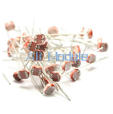 50PCS Photo Light Sensitive Resistor Photoresistor Optoresistor 5mm GL5549 AM