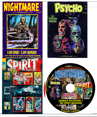 Skywald Comics + The Spirit Mag. 77 issues -  Nightmare, Psycho, Scream + on DVD