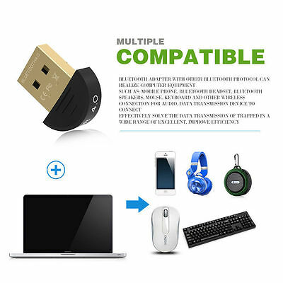 Mini USB Bluetooth CSR 4.0 Dongle Dual Mode Wireless Adapter for Windows 7-10 FR