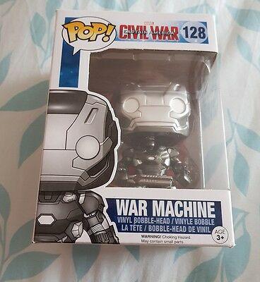 Funko Pop Vinyl figure #128 - War Machine - Captain America Civil War -New