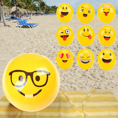 1 Pc Cartoon Emoji Face Beach Ball Toy For Kids Water Play Pool Inflatable Hot