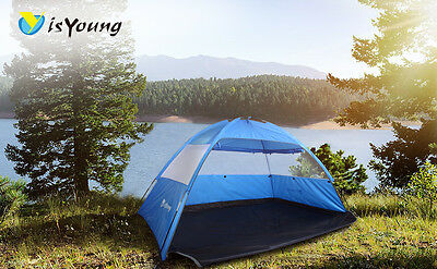 2-3 Man Pop Up Beach Camping Instant Tent Family Travel Dome Festival Waterproof
