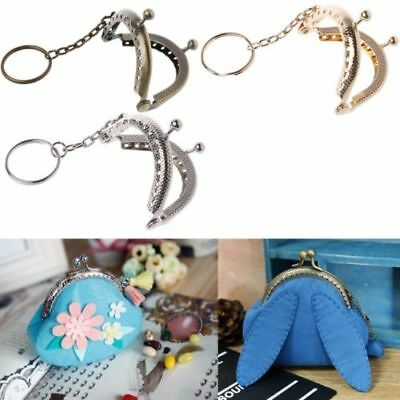 1PC Coin Purse Bag Arch Frame Kiss Clasp Lock With Key Ring DIY Craft 5cm UK