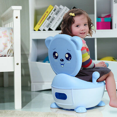 Blue Baby Potty Chair Toddler Children Kids Trainer Training Toilet Seat Stool