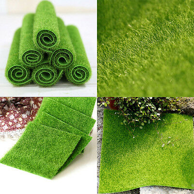 1X Artificial Grass Fake Lawn Simulation Miniature Garden Ornament